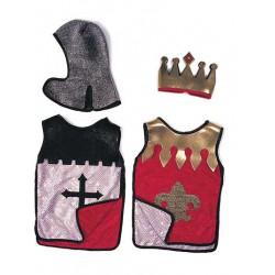 Set réversible Chevalier - Roi rouge (4-8 ans)