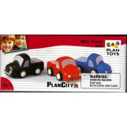 3 voitures Pick-Up  Plan Toys