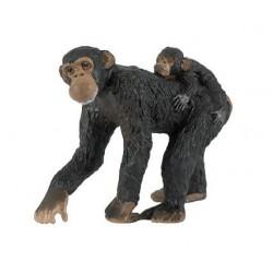 Papo Chimpansee met kleintje Figuurtje
