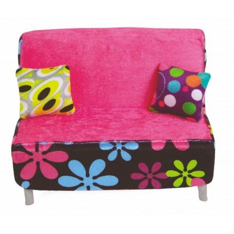 Sofa voor pop (zoals Barbie)