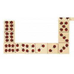 Houten Dominospel Lieveheersbeestjes (28 stukjes)