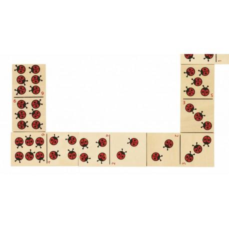 Jeu de Dominos Coccinelles (28 pièces)