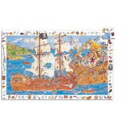 Puzzle Pirates 100 pcs (poster) Djeco