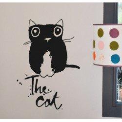 "Muursticker ""The Cat"" Le Prédeau"