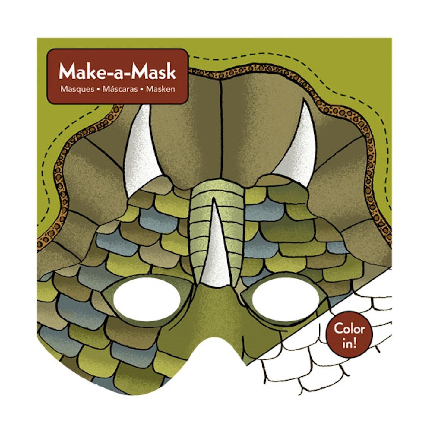 vente officielle emballage fort grande remise Crée 20 masques de dinosaure en carton - Mudpuppy