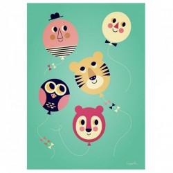 Affiche Ballons (Ingela P Arrhenius)