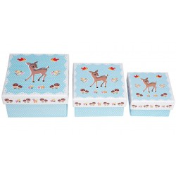 Set de 3 boites Woodland