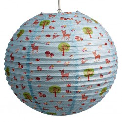 Lampion rond - Woodland