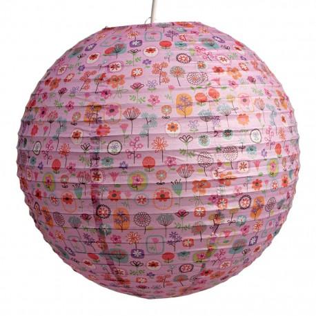 Ronde papier Lampion - Flowershop