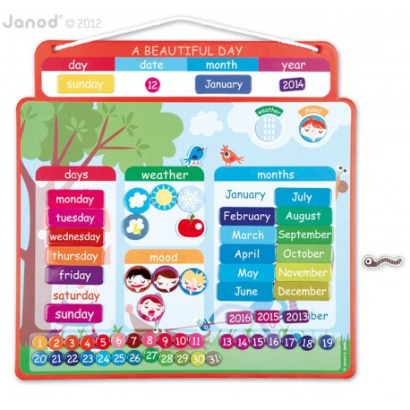Janod magnetische kalender (FR of ENG)