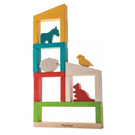 Bouw een Dierentuin - Plan Toys