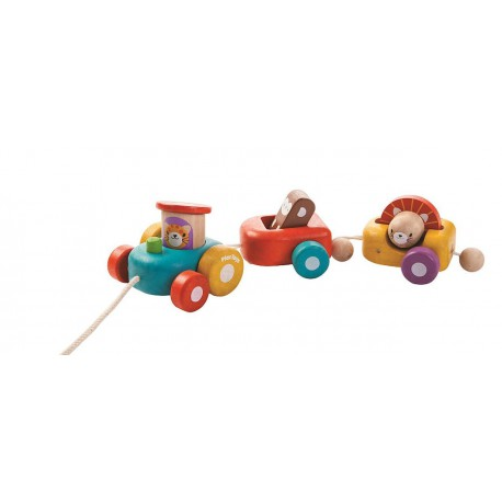 "Train en bois ""Happy Train"" - Plan Toys"