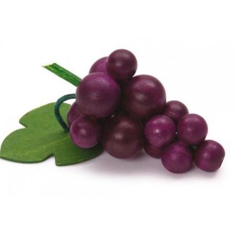 Houten blauwe druiven