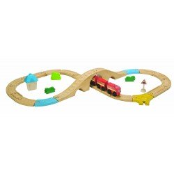 Circuit Train en 8 - Plan Toys (29 pcs)