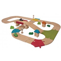 Circuit Routier - Plan Toys (42 pcs)