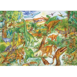 Puzzle Dinosaures + poster (100 pcs) Djeco