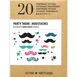 Tatouages Moustaches (Amélie Biggs)