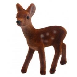 Petit bambi en velours (8 cm)