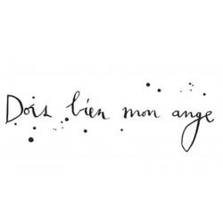 """Sticker mural """"Dors bien mon ange"""" - Le Prédeau"""