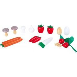 Set van houten groenten (15 stuks)