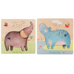 Puzzle encastrable- Les Papoum (3 pcs)
