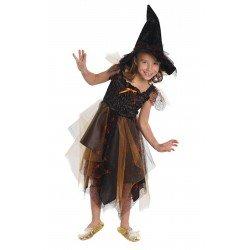 Robe de sorcière + chapeau (4-6 ans)