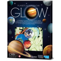 "9 Planeten + 100 Sterren ""glown in the dark"""