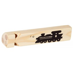 Sifflet de train en bois
