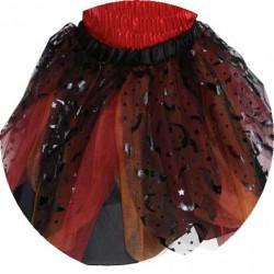 Jupe de sorcière noire-orangé (4-6 ans)