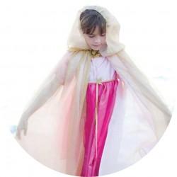 Prinsessen Cape (gold/roze) - 6-10 jaar