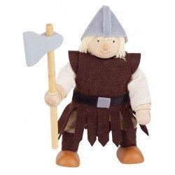 Houten figuurtje ridder