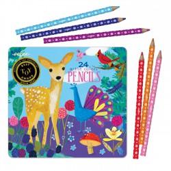 24 crayons de couleur