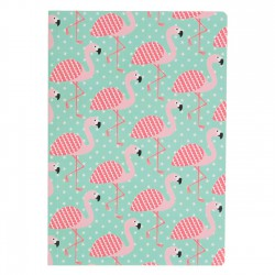 "Cahier A5 ""Flamant rose"""