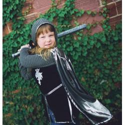 Zilveren ridder kostuum (4-6 jaar)
