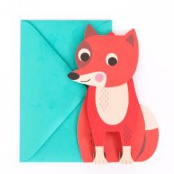 Pop-up Postkaart Vos - Ingela Arrhenius