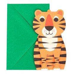 Pop-up Postkaart Tijger - Ingela Arrhenius