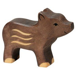 Figurine Marcassin en bois