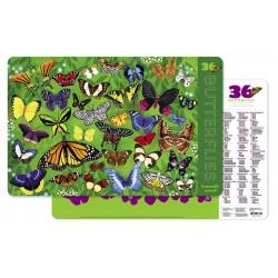 Placemat met 36 vlinders