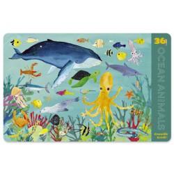 Placemat met 36 zeedieren