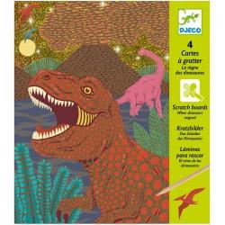 4 kraskaarten Dinosaurier (Djeco)