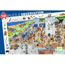 """Puzzle d'observation """"Château fort""""(100 pcs)"""