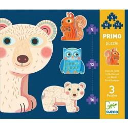 """3 puzzles évolutifs """"dans la forêt"""""""