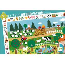 """Puzzle d'observation """"La ferme"""" (35 pcs)"""