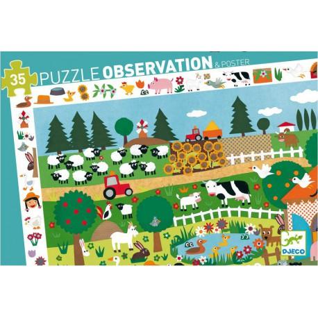 Observatie puzzel de boerderij djeco