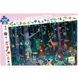 """Puzzle d'observation """"Forêt enchantée""""(100 pcs)"""