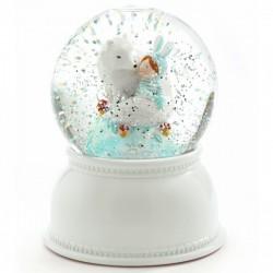 Nachtlampje sneeuwbol Lila & Pupi