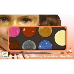 Djeco Schmink 6 metallic kleuren