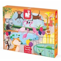 """Tactiele puzzel """"de dierentuin"""" (20 stuks)"""