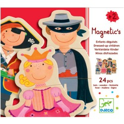 Magneten Dress up Djeco (24 stuks)