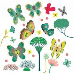 """Stickers fenêtre """"papillons au jardin"""" Djeco"""